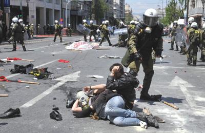 Generalstreik Athen 11.05.2011